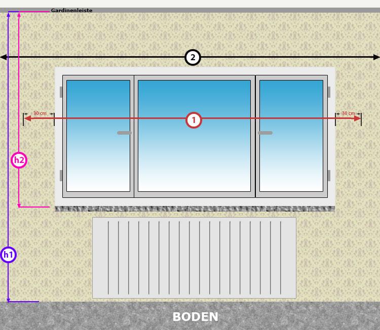 fenster messen mit dem seitlichen berstand lassen sie ihre fenster optisch breiter erscheinen. Black Bedroom Furniture Sets. Home Design Ideas